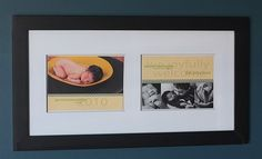 love the idea of a double sided birth announcement. I'd like to try this myself