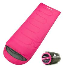 KingCamp Envelope Sleeping Bag 4 Season Lightweight Comfort with Compression Sack Camping Backpack 26F/-3C. ULTRA COMFORTABLE: Our sleeping bag offers a great warmth-to-weight ratio, is highly compressible and is extremely durable. Crafted with high quality material (190T polyester W/P Cire shell fabric, 100% polyester lining) for soft, warm, comfort. 1 year limited warranty. DESIGNED FOR EXTREME WEATHERS: This sleeping bag has an extreme temperature minimum of 26 degree fahrenheit…