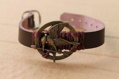 Hunger Games MockingJay Leather Charm by RainDropofSunshine, $12.00