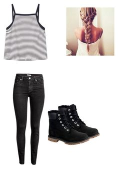"""Untitled #42"" by alyssahislope22 ❤ liked on Polyvore featuring H&M, MANGO and Timberland"