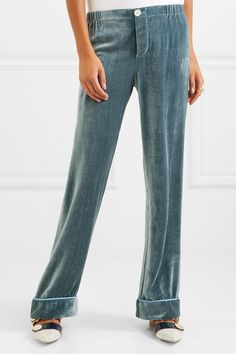 9cbbbad2a4 F.R.S For Restless Sleepers - Etere silk-velvet pajama pants