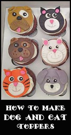 Dog & Cat Cupcakes | Little Delights Cakes