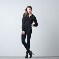 OVERDYE HIGH WAISTED SKINNY JEANS DUAL-FLEX INDIGO $65 TRADITIONAL RETAIL: $180 Skinny Jeans | DSTLD Jeans | Luxe Denim from $65