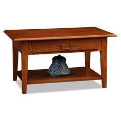 Leick Furniture Shaker 1-Drawer Coffee Table, Brown