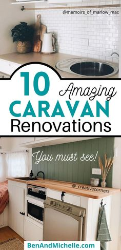 Be amazed by how these older caravans have had a total transformation of their interiors. We're looking at Australian made Millard caravans that have been renovated or remodeled into fantastic holiday homes on wheels. Vintage caravan renovation | Caravans Australia | Renovated caravans Australia | Australian caravans | Millard caravan renovations | Caravan renovation ideas Best Caravan, Diy Caravan, Caravan Ideas, Rv Interior, Interior Ideas, Interior Decorating, Caravan Makeover, Caravan Renovation, Vintage Caravan Interiors