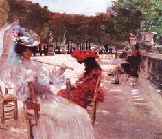 Eliseu Visconti – Jardim de Luxemburgo, 1905