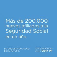 Más de 200.000 nuevos afiliados a la Seguridad Social en un año. #VotaPP #VotaCañete
