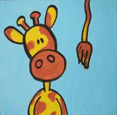 Giraffe kids painting