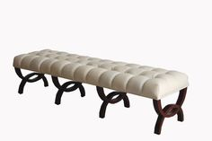 Modern design leather ottoman / bedroom bench
