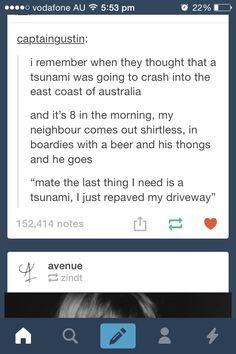 Australian tsunami's...
