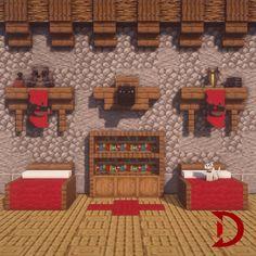 Cute Minecraft Houses, Minecraft Plans, Minecraft Blueprints, Minecraft Creations, Minecraft Designs, Minecraft Buildings, Minecraft Bedroom, Minecraft Furniture, Minecraft Interior Design