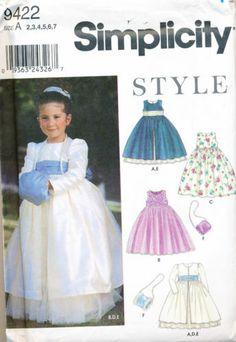 Girls' Special Occasion Dress Pattern, Flower Girl Dress Pattern ...