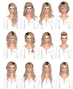 Random hair dump by July Kapo for Sims 3 - Sims Hairs - http://simshairs.com/random-hair-dump-by-july-kapo/