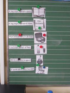 Ochtendroutine in de klas: Visuele communicatie = vermijdt x keer herhalen, stemsparend