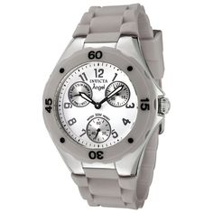 Invicta Women's 0705 Angel Collection Multi-Function Grey Rubber Watch ** Check out this great watch.