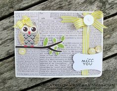 Card Inspiration - Owl Always Love You!   Miss You *My Little Shoebox* - Two Peas in a Bucket