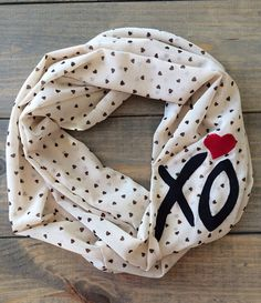 Valentine XO Infinity Scarf