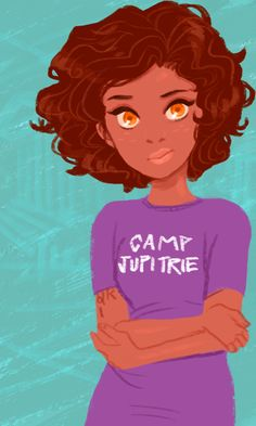 Hazel Levesque<3 -- What's up with her shirt...? SPQR