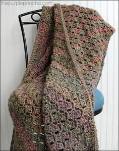 I had been wanting to try the Corner-to-Corner pattern and when I stumbled upon some yarn I had, it was the deciding factor to get started, I was hooked!!