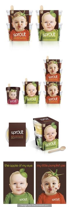 Sprout concept packaging for a new organic baby food in the UK. Pentaward GOLD winner, A AWARD GOLD winner. Extended pin for a team fav Sprout PD. Millennial baby