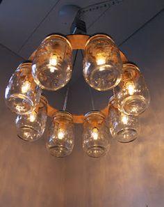 Mason jar chandelier 3