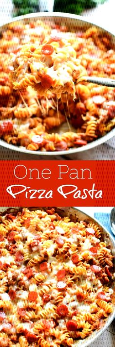 Dinner Recipes fast One Pot Pizza Pasta - quick and easy dinner recipe! Sausage, pepperoni, and lots. One Pot Pizza Pasta - quick and easy dinner recipe! Sausage, pepperoni, and lots of cheese! One Pot Meals, One Pot Recipes, How To Cook Pasta, Quick Meals, Dinner Recipes Easy Quick, Cheap Easy Dinners, Quick Summer Meals, Quick Pasta Recipes, Clean Dinners
