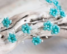 Hey, I found this really awesome Etsy listing at https://www.etsy.com/listing/166124396/tiffany-blue-wedding-hair-accessory
