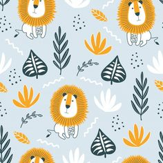 Kids Wallpaper, Animal Wallpaper, Pattern Wallpaper, Cartoon Baby Animals, Animals For Kids, Kids Prints, Baby Prints, Kids Patterns, Print Patterns