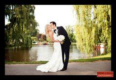 Wedding photos in the Boston Public Garden, Fairmont Copley Plaza Wedding