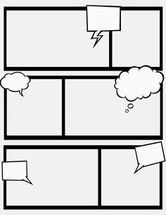 You can save the full size images of the templates from her site! Very helpful! sweet hot mess: comic strips, part II...