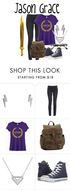 """Jason Grace"" by aquatic-angel ❤ liked on Polyvore featuring Humble Chic, Frame, Aéropostale, Converse and Corinne McCormack"