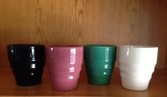 California Pottery 1930s Gladding McBean Franciscan El Patio water tumblers
