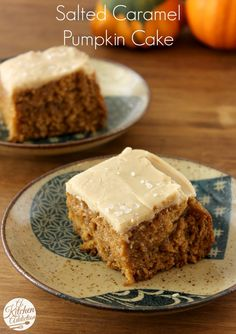 Salted Caramel Pumpkin Cake from A Kitchen Addiction