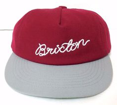 14105f9e27b Details about NEW Low-Profile BRIXTON SCRIPT HAT Dark Red Maroon  Unstructured Dad-Cap Wool Men
