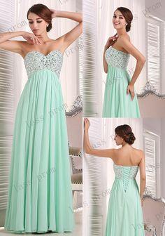 Mint green long bridesmaid dress bridesmaid dress new by lassprom, $120.00