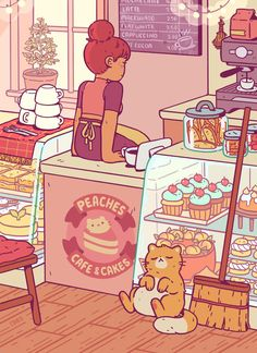 Caroline Frumento is creating Art and Comics Aesthetic Drawing, Aesthetic Art, Aesthetic Anime, Arte Do Kawaii, Kawaii Art, Kawaii Drawings, Cute Drawings, Cute Sticker, Ouvrages D'art