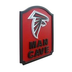 Atlanta Falcons Man Cave Shield Art Sign