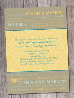 Anniversary Party Invitation 20th 30th 40th 50th by PinchOfSpice, $15.00