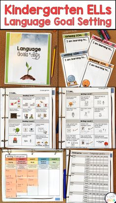Create language goals for you kindergarten English learners and set them up for success! This resource will help determine your students' current levels of language proficiency, set goals, monitor progress and track data. Perfect for the kindergarten ESL classroom and ESL teacher. Learning Goals, Learning Process, Kindergarten Goals, Language Proficiency, Writing Goals, English Language Learners, Teaching English, Esl, Monitor