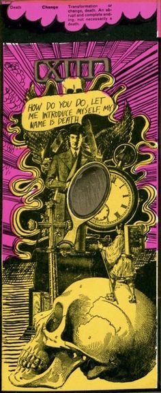 Martin Sharp's psychedelic tarot cards from 1967 - If you love Tarot, visit me at www.WhiteRabbitTarot.com