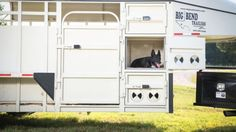 Big bend trailer with dog box Horse Trailers, Rodeo, Rigs, Equestrian, Trucks, Horses, Box, Furniture, Home Decor