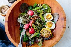Lentil Salad with Spring Greens, Asparagus, and a Soft Egg Recipe on Yummly