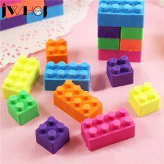 1 pcs JWHCJ creative Building blocks shape eraser Kawaii stationery office school correction supplies papelaria child's toy gift #Affiliate