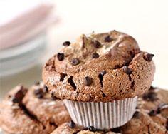 Chocolate Angel Food Muffins