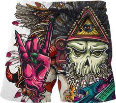 Dred Pirate Rocker Swim Shorts