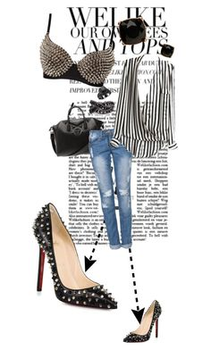 """just miss u all :D"" by girlyskullsam ❤ liked on Polyvore featuring Christian Louboutin, Givenchy, Bohemian Society, Mimco and SELECTED"