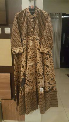 Dress kombinasi batik tulis lawasan