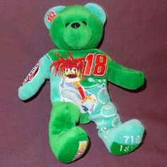 NASCAR Muppet Show 25th Anniversary Beanie Baby Green #18 Plush Stuffed Animal #BeanieBaby #TheMuppetShow