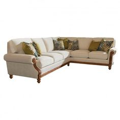 Tommy Bahama Island Estate West S Quick Ship 2 Piece Sectional Sofa Package Tropical Sofas