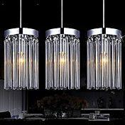 Modern  3 Lights Pendant With Glass Rod – USD $ 159.99